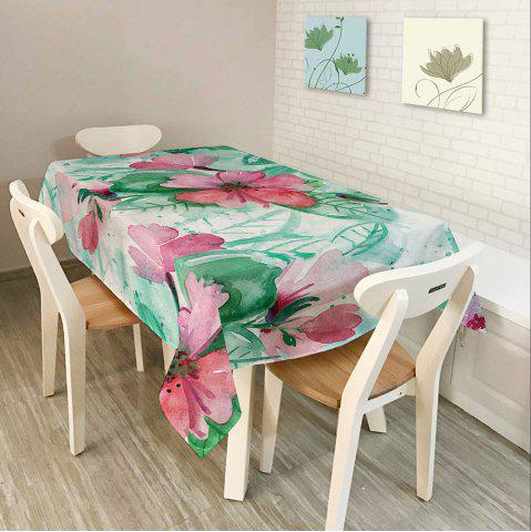 Outfit Oil Painting Floral Print Waterproof Table Cloth - W54 INCH * L54 INCH COLORFUL Mobile