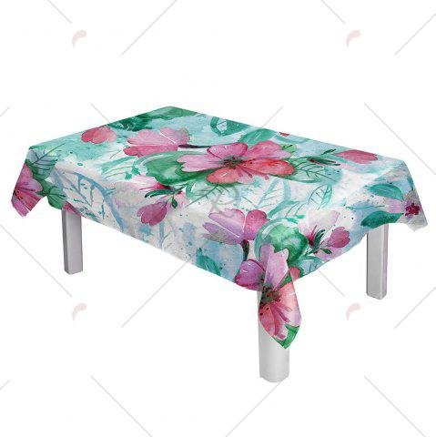 Online Oil Painting Floral Print Waterproof Table Cloth - W54 INCH * L54 INCH COLORFUL Mobile