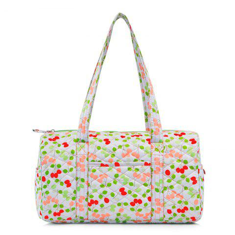 Buy Quilted Printed Shoulder Bag WHITE