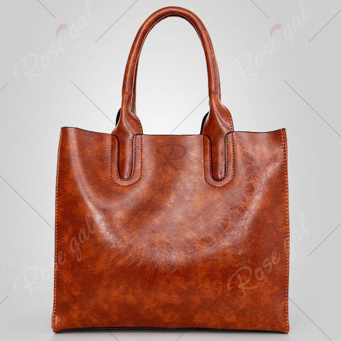 Outfits PU Leather 3 Pieces Tote Bag Set - BROWN  Mobile
