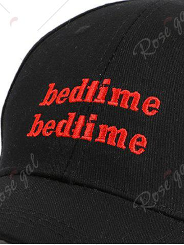 New Adjustable Outdoor Letters Embroidered Baseball Hat - BLACK  Mobile
