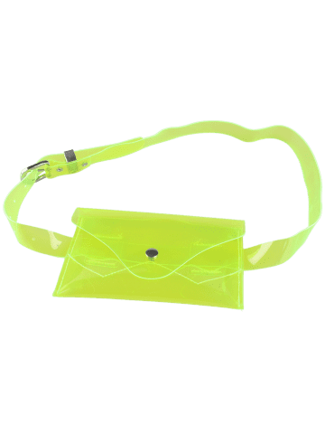 Online Snap Buton Jelly Color Portable Waist Belt Bag - NEON GREEN  Mobile
