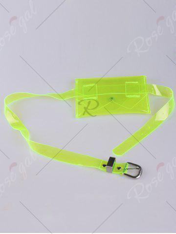 Latest Snap Buton Jelly Color Portable Waist Belt Bag - NEON GREEN  Mobile