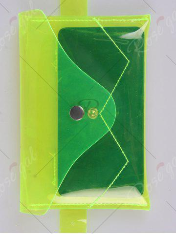Affordable Snap Buton Jelly Color Portable Waist Belt Bag - NEON GREEN  Mobile