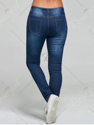 New Ripped Skinny Jeans - S BLUE Mobile
