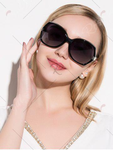 Affordable Oversize Butterfly Anti UV Sunglasses - BLACK  Mobile