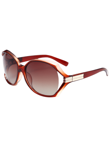 Affordable Oversize Butterfly Anti UV Sunglasses - TEA-COLORED  Mobile