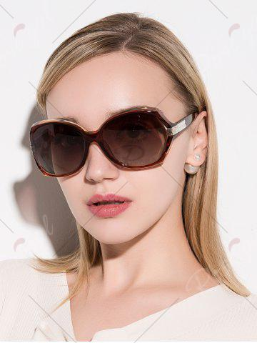 Latest Oversize Butterfly Anti UV Sunglasses - TEA-COLORED  Mobile