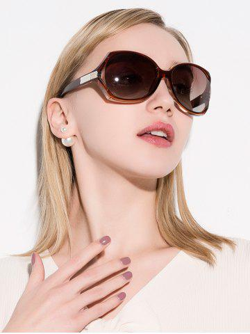 Unique Oversize Butterfly Anti UV Sunglasses - TEA-COLORED  Mobile