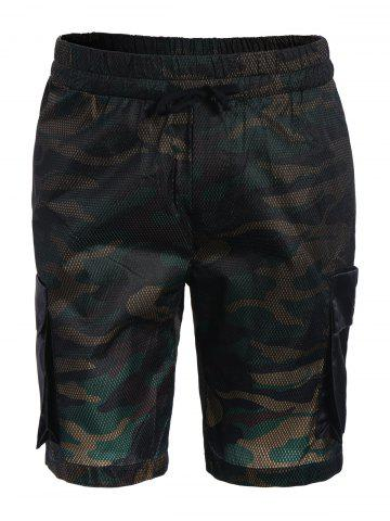 Unique Camo Print Board Cargo Shorts