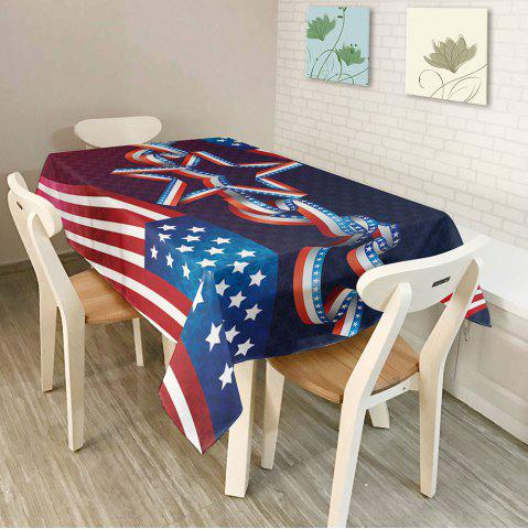 Unique Dustproof Polyester American Flag Kitchen Table Cloth