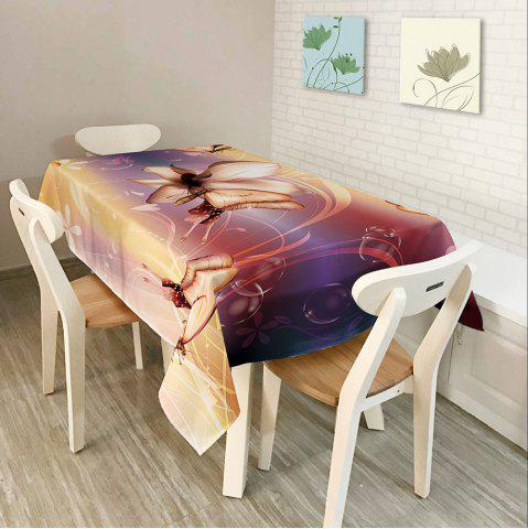 Store Kitchen Product Butterfly Print Polyester Table Cloth