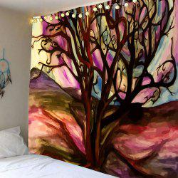 Oil Painting Life of Tree Wall Hanging Tapestry