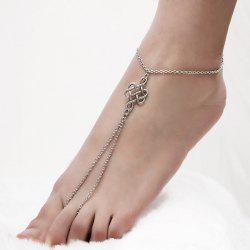 Chinese Knot Embellished Chain Slave Anklet
