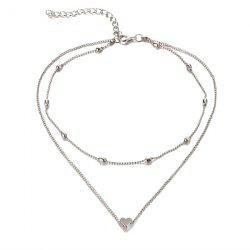 Heart Layered Collarbone Necklace