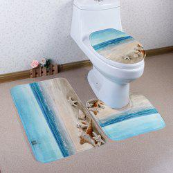 Eco-Friendly Beach Shell 3Pcs Set de tapis de salle de bain - Multicolore