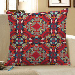 Decorative Bohemian Geometric Linen Pillow Case - RED