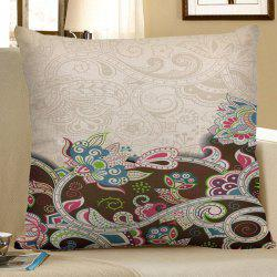 Home Decor Bohemian Floral Linen Pillow Case - COLORFUL