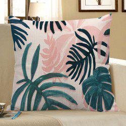 Boho Palm Print Linen Decorative Pillow Case