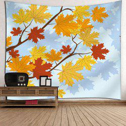Maple Leaf Velvet Wall Art Hanging Tapestry
