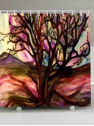 Waterproof Oil Painting Tree of Life Shower Curtain