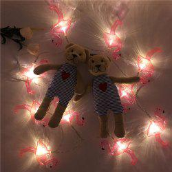 LED Flamingo Fairy String Lights for Home Decor - RED