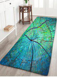 Cracked Wood Pattern Antiskid Flannel Rug - GREEN