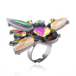 Statement Faux Crystal Teardrop Oval Ring -
