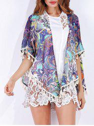 Tribal Print Tassels Cover Up