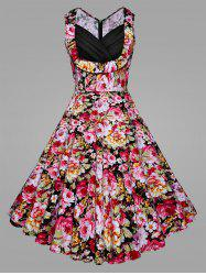 Floral Blossom Plus Size Vintage Swing Dress