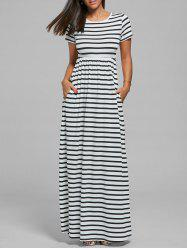 Striped Long Maxi Dress - STRIPE