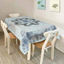 Kitchen Product Bohemian Mandala Print Table Cloth - LIGHT BLUE