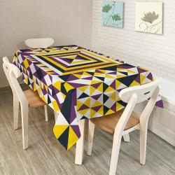 Dining Decor Geometry Print Dustproof Table Cloth - COLORMIX