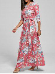 Floral Floor Length Dress