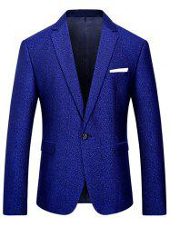 One Button Heathered Blazer