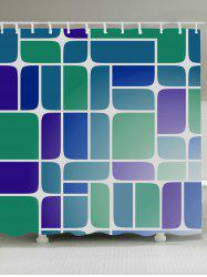 Mildewproof Geometry Print Bathroom Shower Curtain