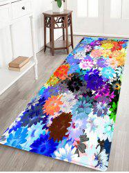 Floral Painting Pattern Anti-skid Water Absorption Area Rug