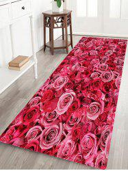 Rose Flowers Pattern Anti-skid Water Absorption Area Rug
