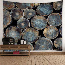 Natural Wood Fabric Wall Hanging Decor Tapestry