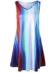 Rainbow Color Tunic Trapeze Tank Top