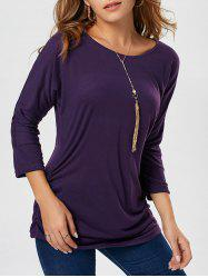 Long Sleeve Scrunch Tunic Sweater