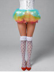 Light Up Rainbow Mesh Tutu Cosplay Skirt