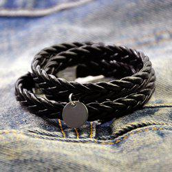 Woven Enwind Long Metal Round Piece Bracelet