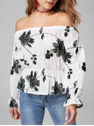 Long Sleeve Embroidery Off Shoulder Blouse