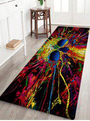 Skull Pattern Anti-skid Water Absorption Area Rug - COLORMIX