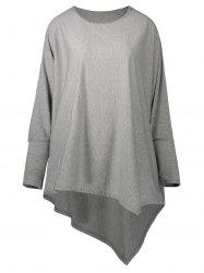 Plus Size Long Sleeve Asymmetric Tunic Tee