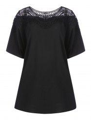 Lace Hollow Out Plus Size Tunic T-shirt