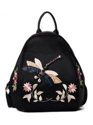 Flower Patches and Dragonfly Backapck - BLACK