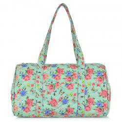 Quilted Printed Shoulder Bag - GREEN