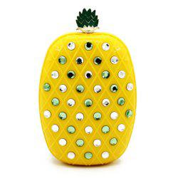 Rhinestone Pineapple Evening Bag